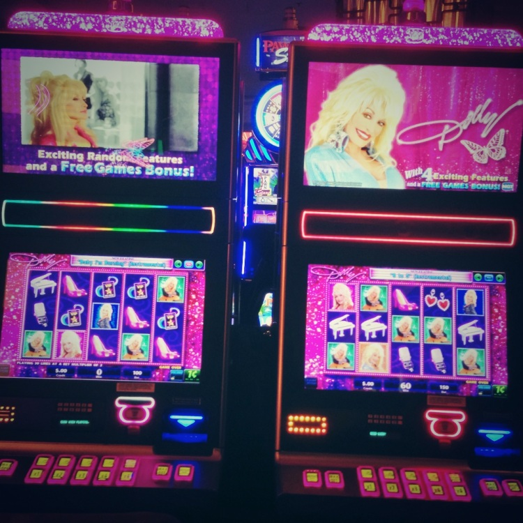 Dolly's slot game. She took my $2 and I still have no idea how to play. Genius.